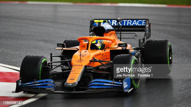 Lando Norris of Great Britain driving the McLaren F1 Team MCL35 Renault during final practice ahead of the F1 Grand Prix of Turkey at Intercity...