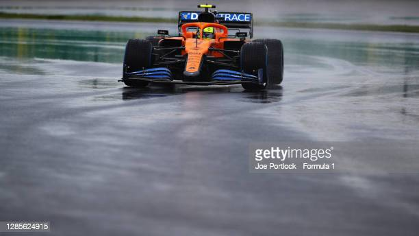 Lando Norris of Great Britain driving the McLaren F1 Team MCL35 Renault during qualifying ahead of the F1 Grand Prix of Turkey at Intercity Istanbul...