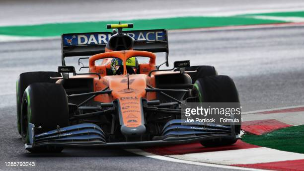 Lando Norris of Great Britain driving the McLaren F1 Team MCL35 Renault during the F1 Grand Prix of Turkey at Intercity Istanbul Park on November 15...