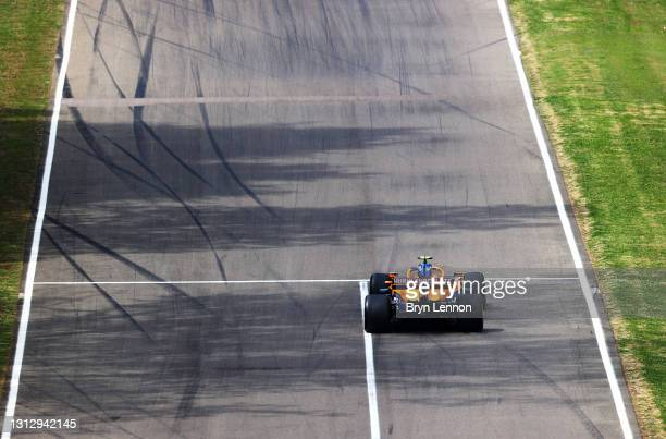 Lando Norris of Great Britain driving the McLaren F1 Team MCL35M Mercedes on track during final practice ahead of the F1 Grand Prix of Emilia Romagna...
