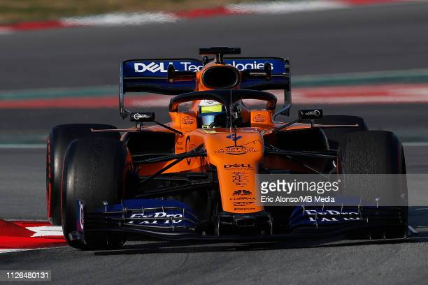Lando Norris of McLaren during day four of F1 Winter Testing at Circuit de Catalunya on February 21 2019 in Montmelo Spain