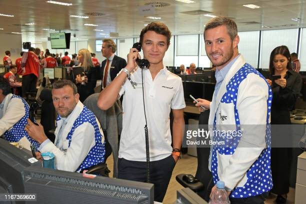 Lando Norris representing Hope And Homes For Children attends BGC Charity Day at One Churchill Place on September 11 2019 in London England