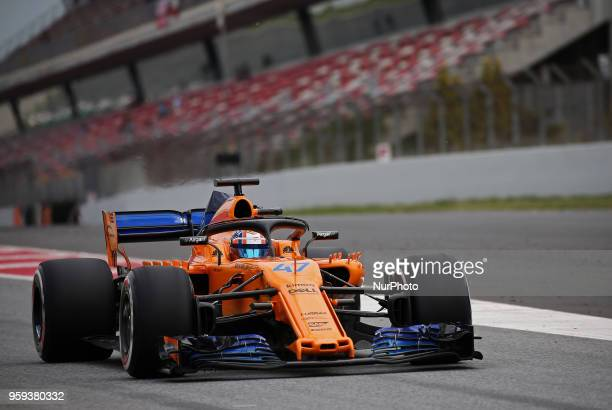 Lando Norris team McLaren during the Formula 1 testing at the Barcelona Catalunya Circuit on 16th May 2018 in Barcelona Spain