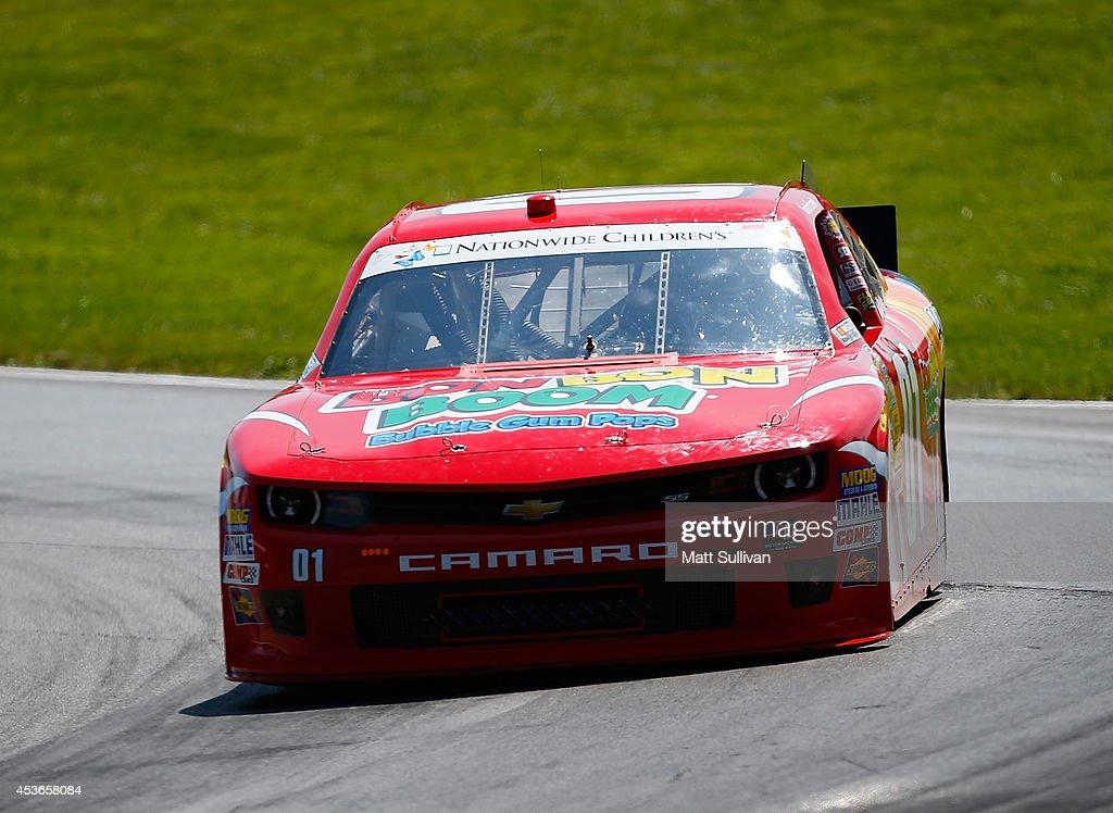 Landon Cassill Driver Of The Bon Bon Boom Bubble Gum Pops Chevrolet Aces  During Practice For