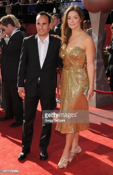 Landon Donovan and Bianca Kajlich arrive at the 2010 ESPY Awards at the Nokia Theatre LA Live on July 14 2010 in Los Angeles California