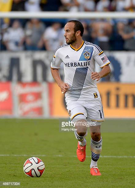 Landon Donovan of Los Angeles Galaxy looks to pass against the Seattle Sounders FC during the Western Conference Final at StubHub Center on November...