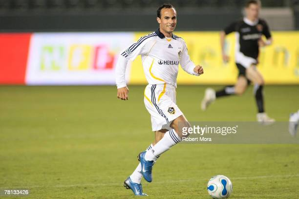 Landon Donovan of the Los Angeles Galaxy during the celebrity soccer match against Hollywood United FC at Home Depot Center on November 4 2007 in...