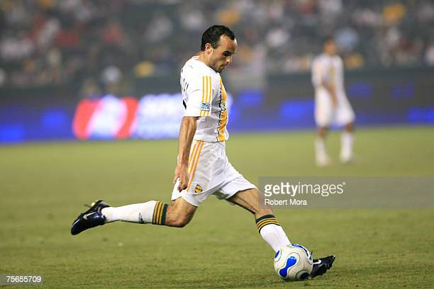 Landon Donovan of the Los Angeles Galaxy during the game against the Chicago Fire on July 4 2007 at The Home Depot Center in Carson California The...