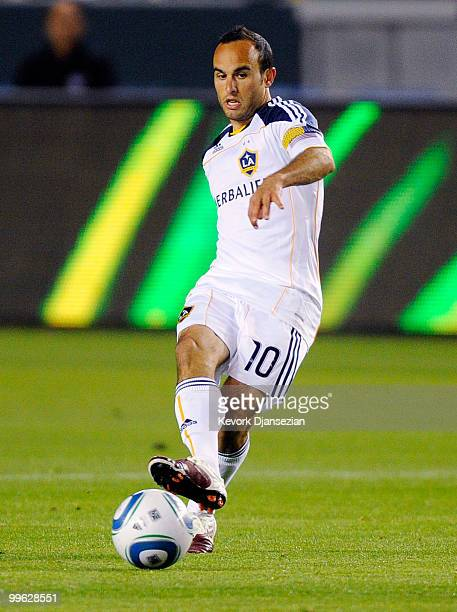 Landon Donovan of the Los Angeles Galaxy in action against Toronto FC during the second half action of the MLS soccer match on May 15 2010 at the...