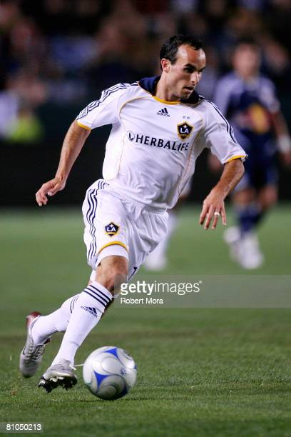 Landon Donovan of the Los Angeles Galaxy makes a run on goal during their MLS game against the New York Red Bulls at Home Depot Center on May 10,...