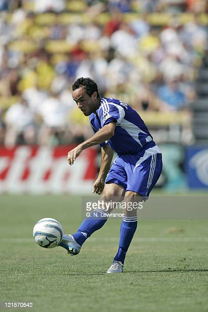Landon Donovan of the MLS All Stars in action during the MLS All Star game featuring the MLS All Stars vs. Fulham FC at Crew Stadium in Columbus,...