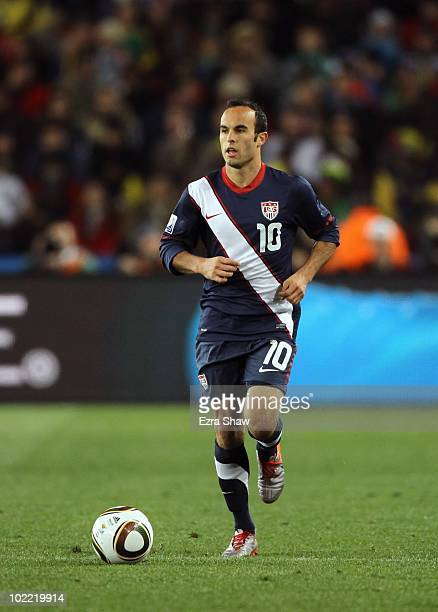 Landon Donovan of the United States in action during the 2010 FIFA World Cup South Africa Group C match between Slovenia and USA at Ellis Park...