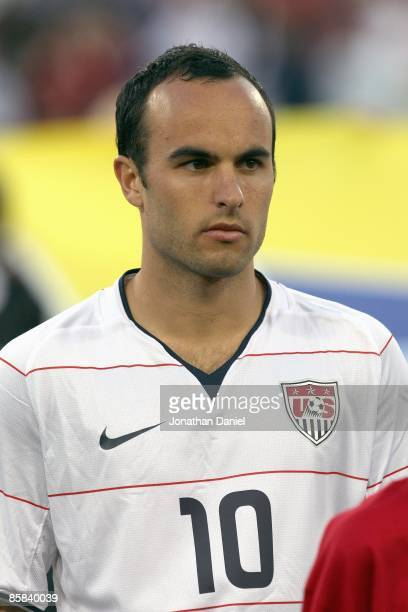 Landon Donovan of the United States looks on prior to a FIFA 2010 World Cup Qualifying match against Trinidad and Tobago on April 1 2009 at LP Field...