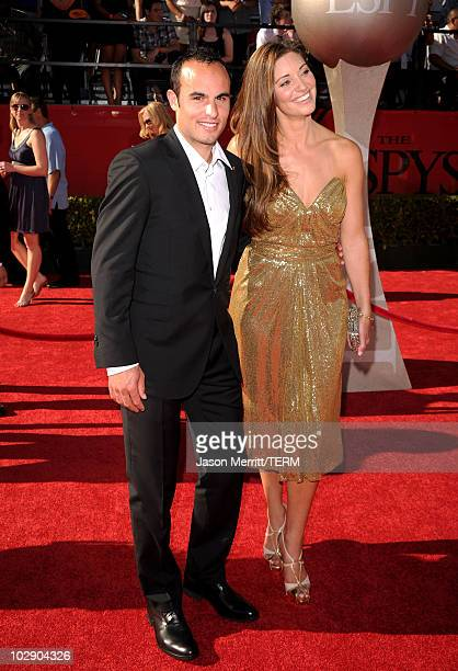 Landon Donovan of the US soccer team and member of the LA Galaxy arrives with wife Bianca Kajlich at the 2010 ESPY Awards at Nokia Theatre LA Live on...
