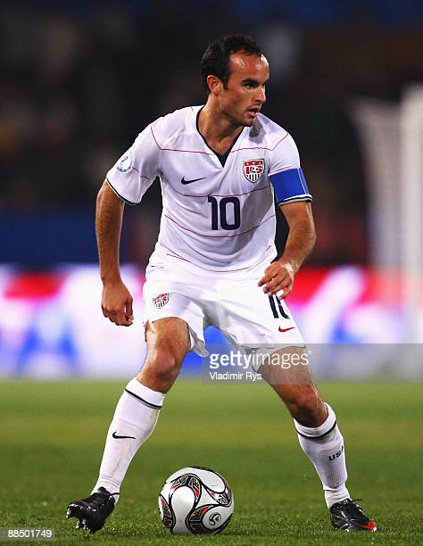 Landon Donovan of the USA in action during the FIFA Confederations Cup match between USA and Italy at Loftus Versfeld Stadium on June 15 2009 in...