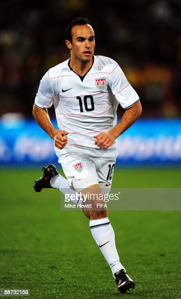Landon Donovan of USA in action during the FIFA Confederations Cup Final between USA and Brazil at the Ellis Park Stadium on June 28 2009 in...