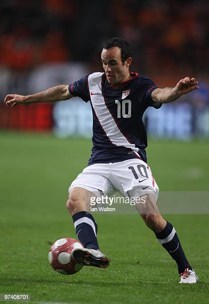 Landon Donovan of USA in action during the International Friendly between Netherlands and USA at the Amsterdam Arena on March 3 2010 in Amsterdam...