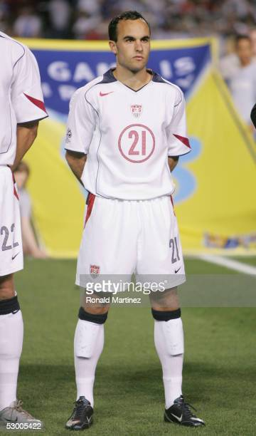 Landon Donovan of USA looks on prior to taking on Guatemala in a 2006 FIFA World Cup qualifying match on March 30 2005 at Legion Field in Birmingham...