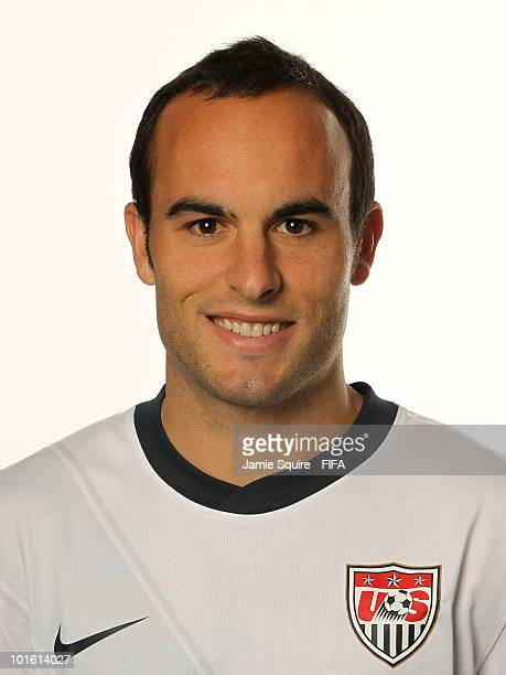Landon Donovan of USA poses during the official FIFA World Cup 2010 portrait session on June 3 2010 in Centurion South Africa