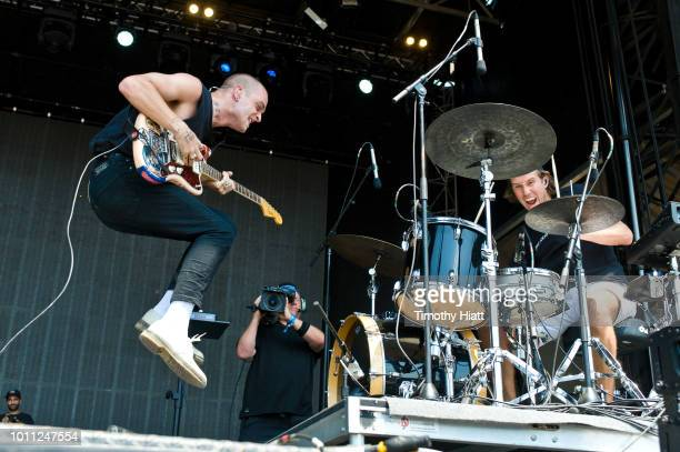 Landon Jacobs and Hayden Copelen of Sir Sly performs at Lollapalooza at Grant Park on August 4 2018 in Chicago Illinois