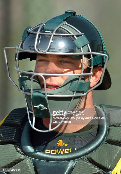 Landon Powell hit 15 home runs as a catcher for the Sacramento River Cats in 2008. He's getting a good look at the Oakland Athletics spring training...