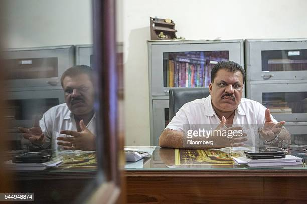 Landowner Kunwar Vikram Jeet Singh speaks during an interview at his mansion in Kuchesar Uttar Pradesh India on Tuesday May 24 2016 Singh is one of...