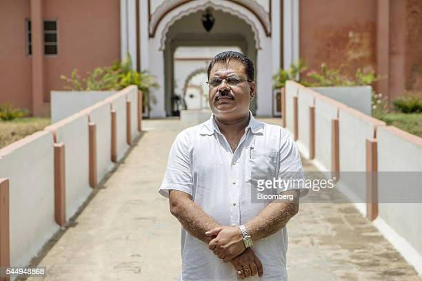 Landowner Kunwar Vikram Jeet Singh stands for a photograph outside his mansion in Kuchesar Uttar Pradesh India on Tuesday May 24 2016 Singh is one of...