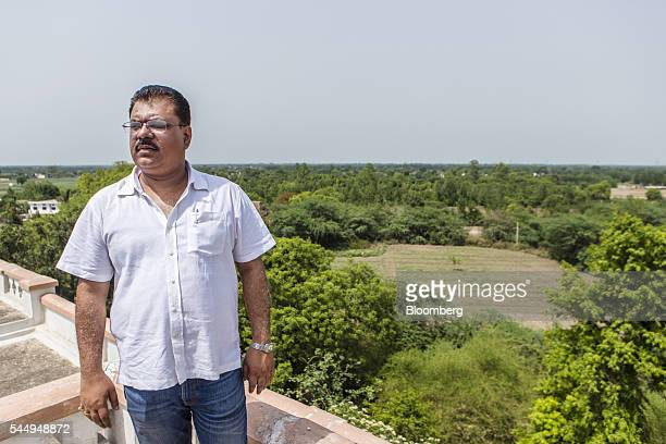 Landowner Kunwar Vikram Jeet Singh stands on the roof of his mansion in Kuchesar Uttar Pradesh India on Tuesday May 24 2016 Singh is one of thousands...