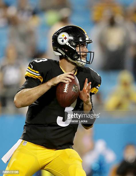 Landry Jones of the Pittsburgh Steelers during their game at Bank of America Stadium on September 1 2016 in Charlotte North Carolina