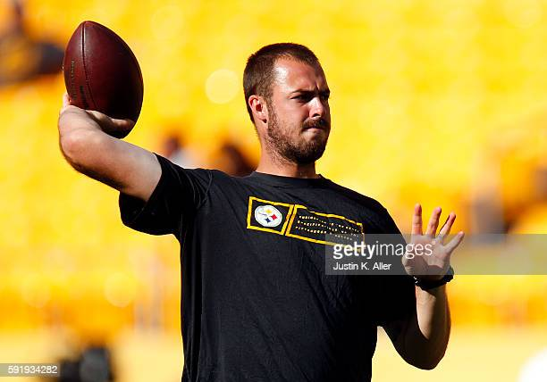Landry Jones of the Pittsburgh Steelers in action during the game against the Philadelphia Eagles on August 18 2016 at Heinz Field in Pittsburgh...