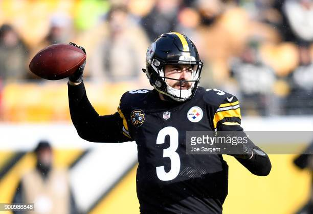 Landry Jones of the Pittsburgh Steelers in action during the game against the Cleveland Browns at Heinz Field on December 31 2017 in Pittsburgh...