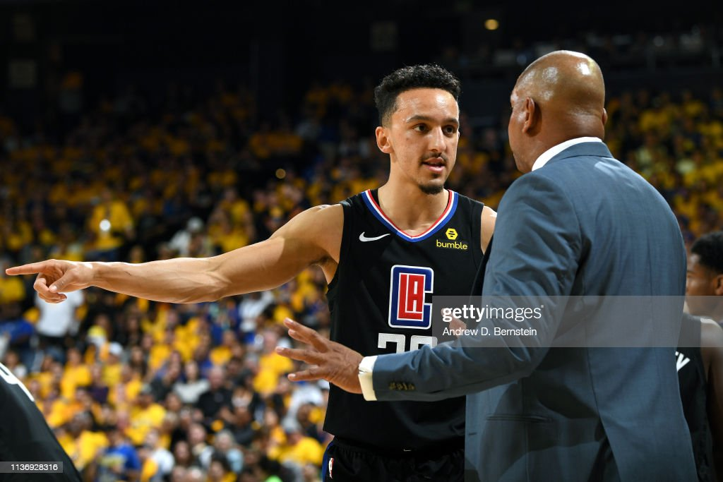 0eda49ca7434 Landry Shamet and Head Coach Doc Rivers of the LA Clippers talk ...