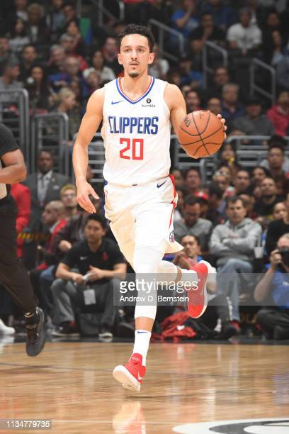 Landry Shamet of the LA Clippers handles the ball against the Houston Rockets on April 3 2019 at STAPLES Center in Los Angeles California NOTE TO...