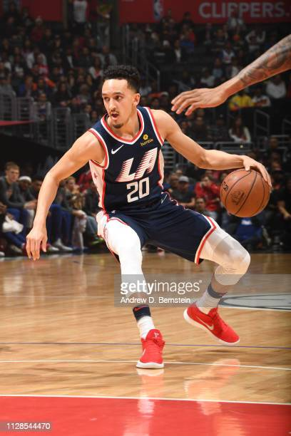 Landry Shamet of the LA Clippers handles the ball against the New York Knicks on March 3 2019 at STAPLES Center in Los Angeles California NOTE TO...