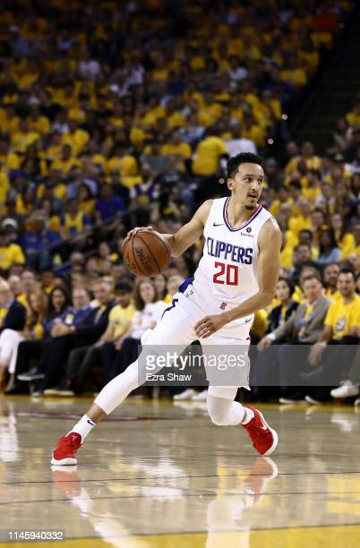 Landry Shamet of the LA Clippers in action against the Golden State Warriors during Game Five of the first round of the 2019 NBA Western Conference...