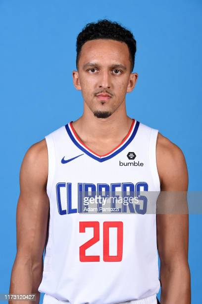 Landry Shamet of the LA Clippers poses for a head shot during media day on September 29 2019 at the Honey Training Center Home of the LA Clippers in...