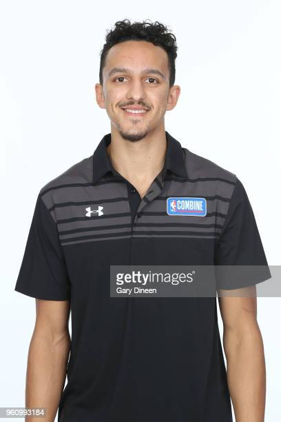 Landry Shamet poses for a head shot at the Body Image station for the Medical Evaluation portion of the 2018 NBA Combine powered by Under Armour on...