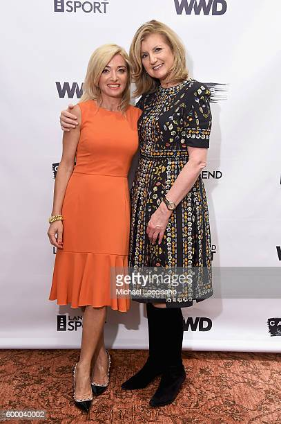 Land's End CEO Federica Marchionni and Arianna Huffington attend the WWD and Lands' End celebrate the Canvas by Lands' End Fall Collection on...