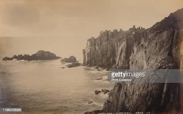 Land's End Cornwall' 1929 Headland of granite cliffs at Land's End on the Penwith peninsula the most westerly point of mainland Cornwall and England...