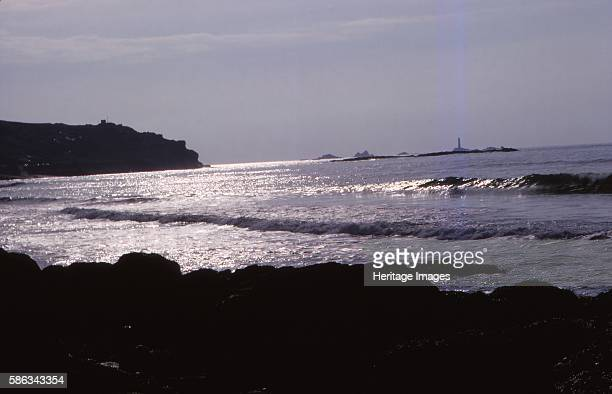 Lands End Cornwall England 20th century Land's End is a headland and the most westerly point of mainland Cornwall and England with granite dating to...