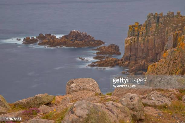 land's end, cornwall, united kingdom - cornwall england stock pictures, royalty-free photos & images