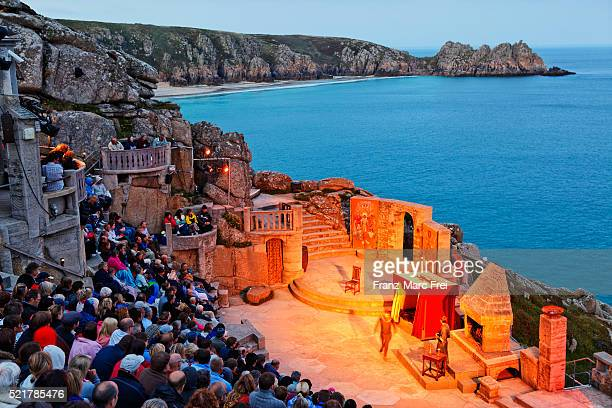 land's end minack theatre, cornwall - minack theatre stock pictures, royalty-free photos & images