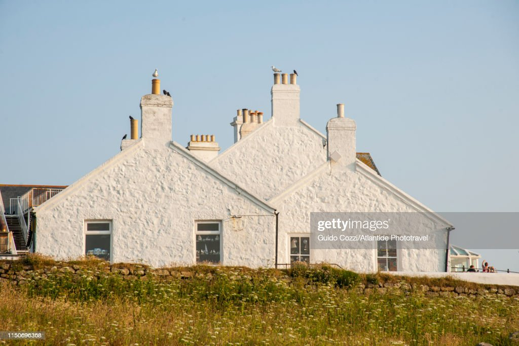Land's End Village on the Cornish cliffs : Stock Photo