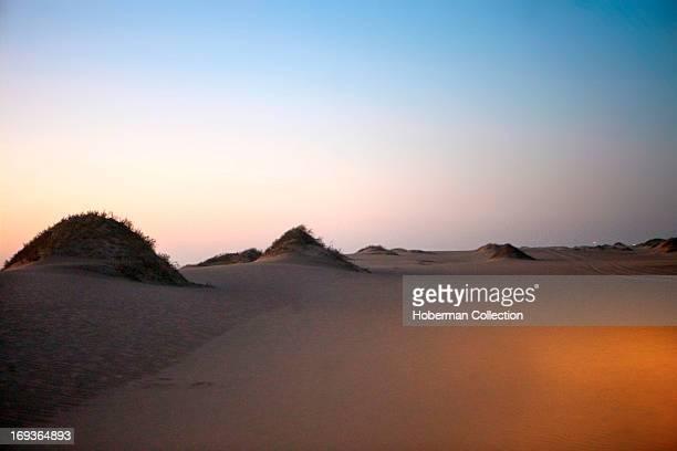 Landsca[e of Desolate desert scene in Namibia