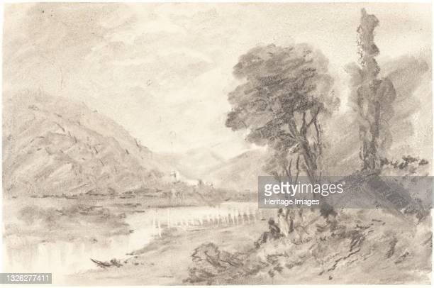 Landscape, 19th century. Artist Unknown.