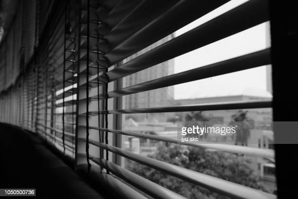 Landscape across the blind