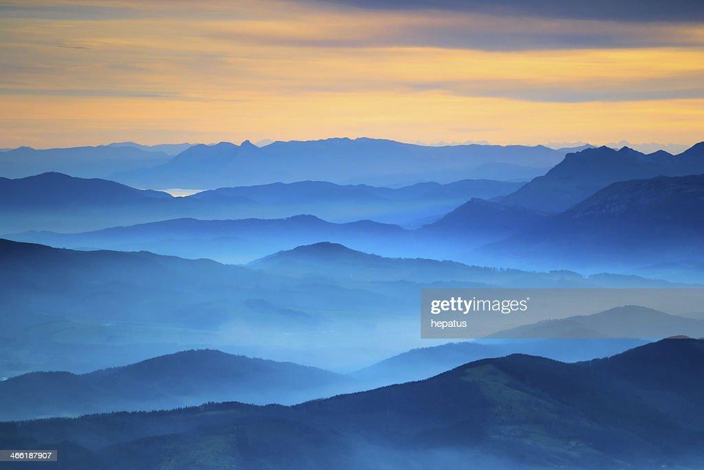 Vue aérienne de paysage : Photo