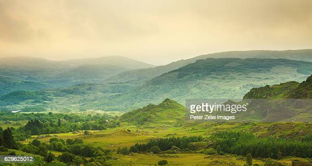 landscape along the ring of kerry, ireland - ring of kerry stock photos and pictures