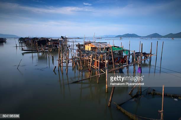 landscape and culture of songkhla lake - provincia di songkhla foto e immagini stock