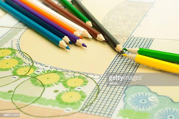 Landscape architect drawing